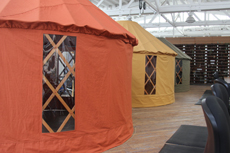 Colored yurts