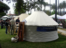yurt at Santa Barbara Earth Day